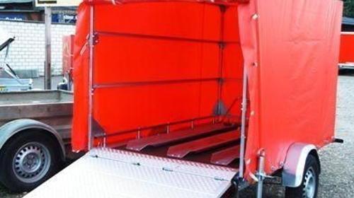 Motorrad - Transporter 1 oder 2 Bikes im geschlossenen Plananhaenger mit Ladebordwand 1000 kg gebremst mit Stossdaempfern / 100 km/h - Innenmasse: 2500 x 1500 x 1500