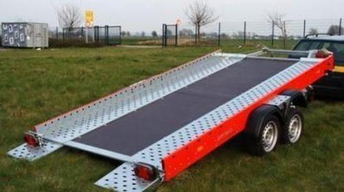 Fahrzeug- + Maschinen Transporter - kippbar mit Seilwinde - Holzboden geschlossen -Tieflader  3.500 kg gebremst / 100 km/h - Nutzlast ca. 2790 kg