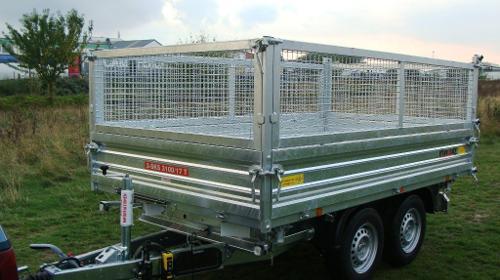 Dreiseitenkipper mit E-Pumpe Hochlader 3.500 kg gebremst - 3600 x 1760 x 1360