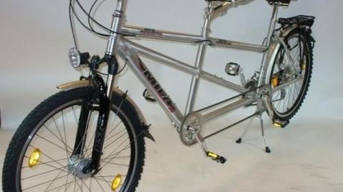 Alu Tandem Fahrrad  26 Zoll - 24 Gang Schimano - Tandemfahrrad für sonnige Ausflüge in die Eifel, im Wald oder im Urlaub
