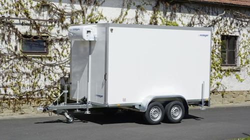 Jimboo Kühlkoffer 2700 kg doppelachser Tieflader 3453 x 1786 x 2000 mm bis 6°C - 100 km/h Kühlanhänger Kühlwagen Kühlschrank