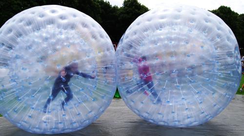 Zorbing / Zorb-Bälle / Laufbälle / Mega-Balls