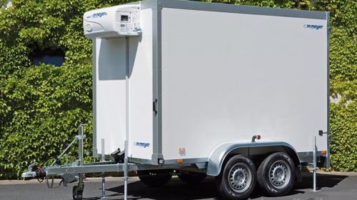 Partyhengst Tieflader 2700 kg Kühlkoffer Kühlanhänger Kühlwagen Kühlkofferanhänger 2938 x 1546 x 2000 mm bis 6°C - 100 km/h