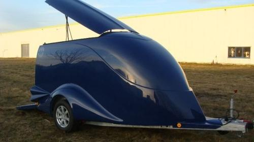 Diamant in kobaltblau Motorradanhänger Excalibur Anhänger S 1 / 1500 kg gebremst 100 km/h