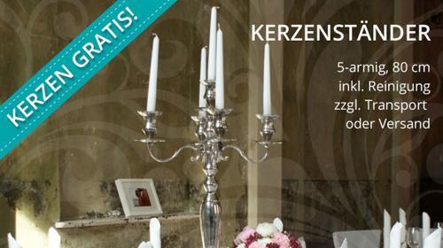 Kerzenleuchter / Kandelaber 5-armig, silber, H:80 cm, Kerzenhalter, Kerzenständer