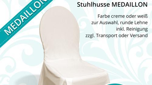 Stuhlhusse creme / champagner für Bankettstühle mit runder Lehne, inkl. Reinigung, Stuhlhussen, Stuhlüberzug, Bankettstuhl