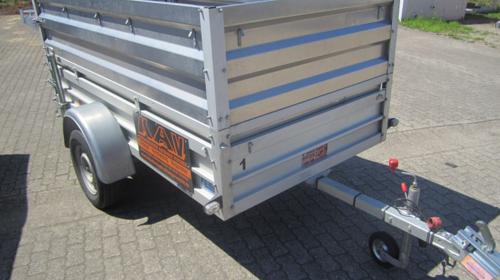 Kastenanhänger 750 KG 2,50x1,25 m PKW Anhänger/Anhängerverleih/Anhängervermietung