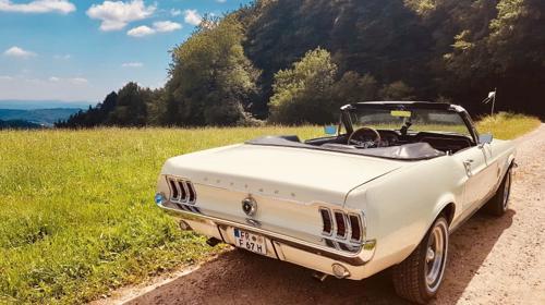 Mustang Cabrio Bj. 1967, Hochzeitsauto, Chauffeur/-in