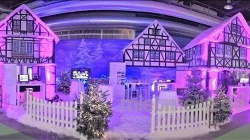 Verkaufshütten, Hütte, Verkaufsstand, Weihnachtsmarkthütte, Weihnachten, Winter, Kulisse, Weihnachtsdorf
