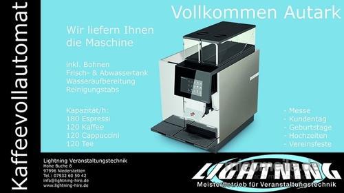 Kaffeevollautomat incl. kompletten Zubehör.