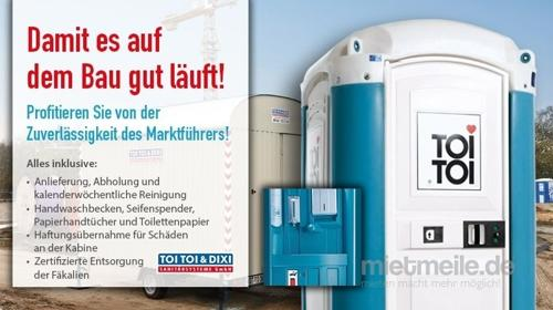 Miettoilette, mobile Toilette, Baustellen WC, Toilettenkabine, Toilettenwagen, DIXI-Klo, das Original, Hygiene, zertifizierte Entsorgung, Endreinigung, Baustellentoilette