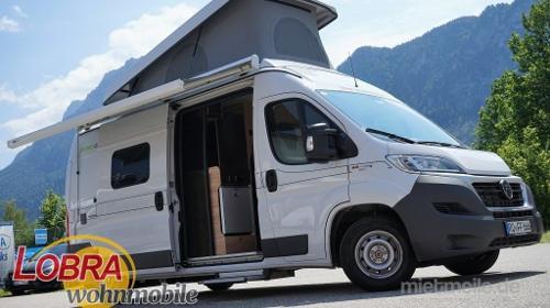 Wohnmobil Hymer-Car Yosemite mit Aufstelldach, Kastenwagen für 4 Personen
