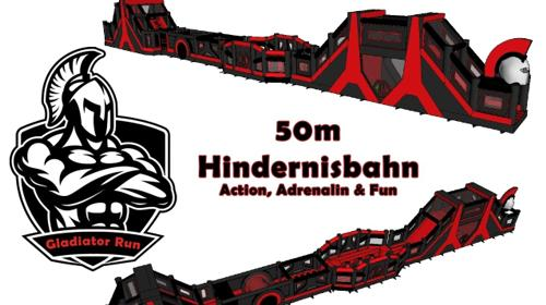 50m XXL Hindernisbahn Gladiator Run