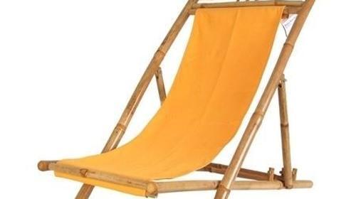 Liegestühle- Bambusliegestühle Orange - mieten