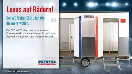 Toilettenwagen, WC-Trailer, Miettoilette, mobile Toilette, Hygiene