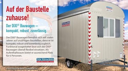 Bauwagen, WC-Trailer, Miettoilette, mobile Toilette, Hygiene