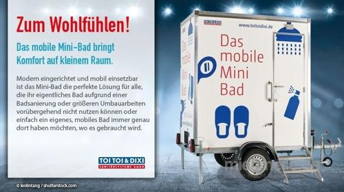 Dusch-/ WC Anhänger, WC-Trailer, Miettoilette, mobile Toilette, Hygiene