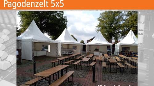 Pagode / Pagodenzelt / Spitzzelt / Zelt 5x5m mieten