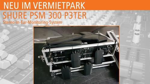 In Ear - SHURE PSM 300 P3TER mieten