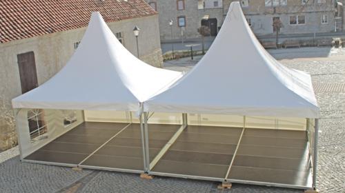 Partyzelt Pagode Pavillon Pagoden-Zelt 5x5m mit Boden