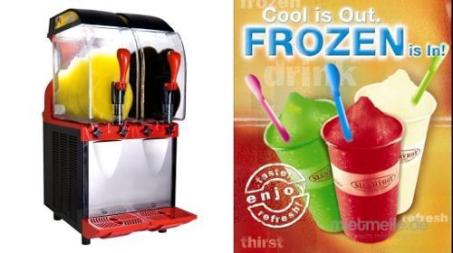 Slushmaschine, Slusher Eco, 2 x 11l, Frozen drinks, Slush Puppy Frozen Drinks mit und ohne Alkohol genießen.