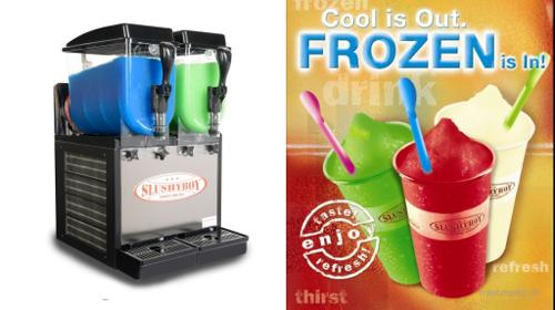 Slushmaschine, Slusher Classic, 2 x 8l, Frozen drinks, Slush Puppy, Daiquiris, Margaritas