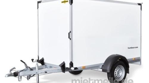 3 m Kofferanhänger abschließbar 1500 kg gebremst / 100 km/h