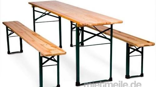 Bierzeltgarnitur Partybank Tisch Bänke Festzeltgarnitur Verleih. Partyzubehör, Bänke, Tische und mehr!