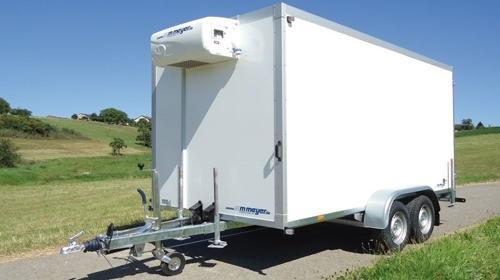 Kühlanhänger 3500 kg doppelachser 3953 x 1786 x 2000 mm bis plus 2°C Kühlung – 100 km/h maximale Zuladung an Gewicht + Volumen