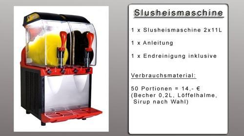 Slusheismaschine mieten - Slushmaschine mieten - Slusher mieten