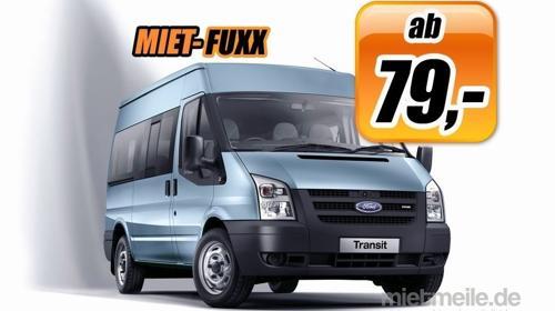 9 Sitzer Bus Minibus Kleinbus mieten ohne Kaution ohne Kreditkarte günstig ab 79,-€