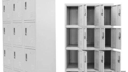 Schließfachschrank 12 - Garderobenschrank mit 12 Fächer