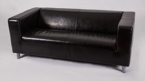 Leder-Sofa | Leder-Couch | Loungemöbel | Lounge-Sofa | Rot Weiß Schwarz
