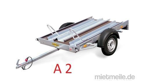 Motorradanhänger 750 kg Gesamtgewicht A 2   Anhängervermietung Anhängerverleih Anhänger