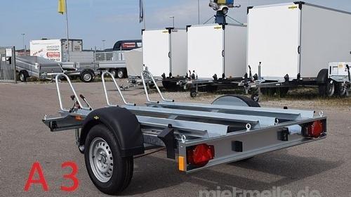 Motorradanhänger  750 kg Gesamtgewicht A 3  Anhängervermietung Anhängerverleih Anhänger
