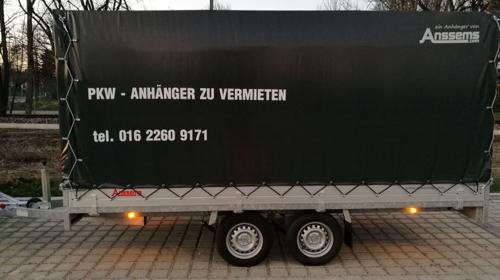 PLANENANHÄNGER / PKW-ANHÄNGER XXL PLANE, ca. L 4.05 /B1.80/h1.80 cm
