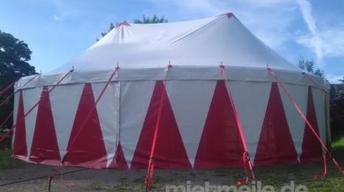 Zirkuszelt / Circuszelt mit 14m Durchmesser (in rot/ weiß und rot/ schwarz lieferbar)