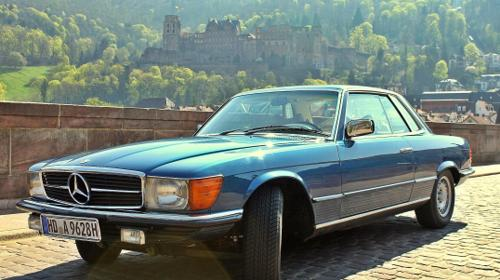 Mercedes 280 SLC Sportcoupé fahren