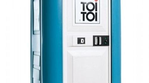 Baustellen-Toilettenkabine mit Handwaschbecken/Miettoilette/Mobile Toilette/ Toilette/ DIXI-Klo/Zertifizierte Entsorgung/Hygiene/Handreinigungsspender/Toilettenwagen