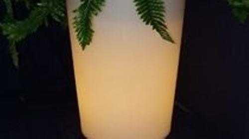 Beleuchteter Blumentopf