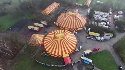 Zirkuszelte, Circuszelte, Messezelte, Theaterzelte, Partyzelte, verschiedene Größen