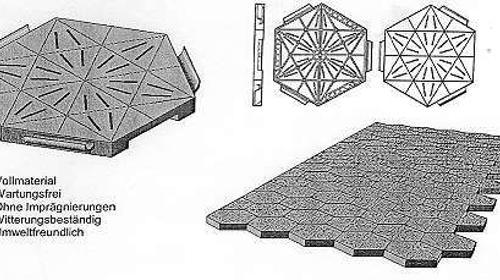 Zeltboden, Wabenboden, Kunststoffboden