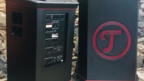Teufel Rockster XL 900 Watt Bluetooth Party Lautsprecher Boxen Stereo Set 2x Musik Box mit Mixer