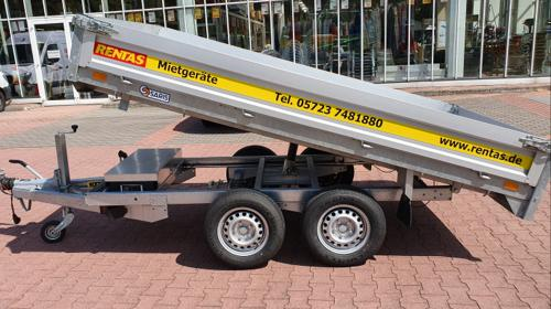 Anhänger Rückwärtskipper mit E-Pumpe, Nutzlast max. 2.055 kg