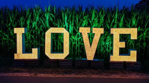 """XXL Buchstaben """"LOVE"""" 120 cm"""