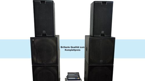 Professionelle Komplette Beschallungsanlage / PA-Anlage / Musikanlage / Lautsprecher