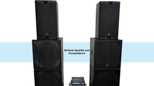 Professionelle Komplette PA-Anlage / Musikanlage / Beschallungsanlage / Lautsprecher
