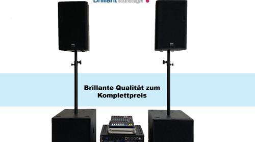Professionelle Komplette DJ-Anlage / PA-Anlage / Musikanlage / Beschallungsanlage / Lautsprecher
