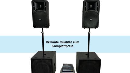 Professionelle komplette DJ Anlage / PA-Anlage / Musikanlage / Beschallungsanlage / Lautsprecher