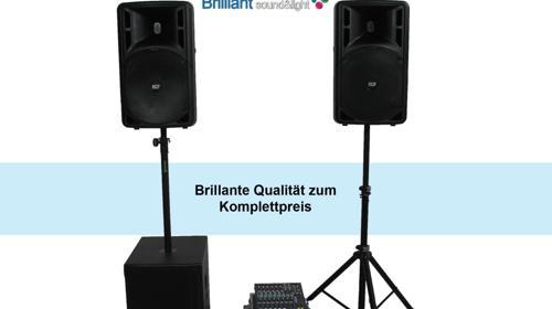Komplette Profi PA-Anlage / Musikanlage / Beschallungsanlage / Tonanlage / Lautsprecher